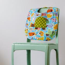 Retro States with a Turtle Baby Bib - Gender Neutral Baby Shower Gift